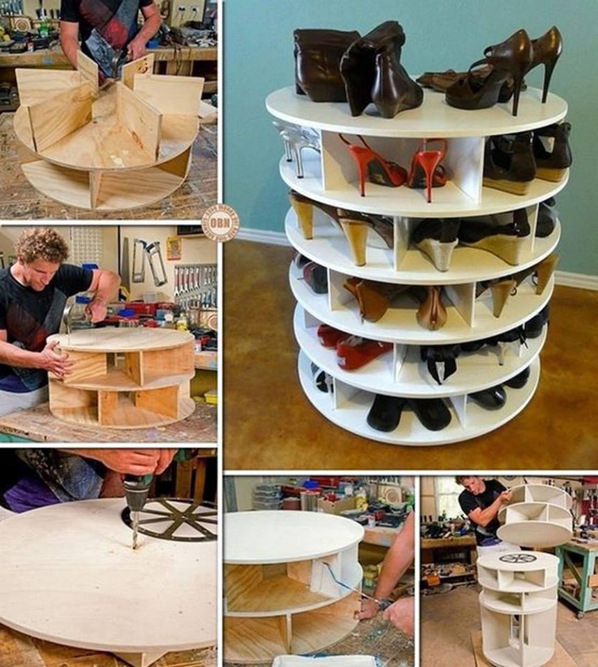 Mueble giratorio para zapatos construccion y for Mueble para zapatos precio