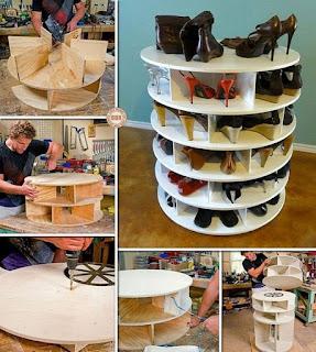 Mueble giratorio para zapatos