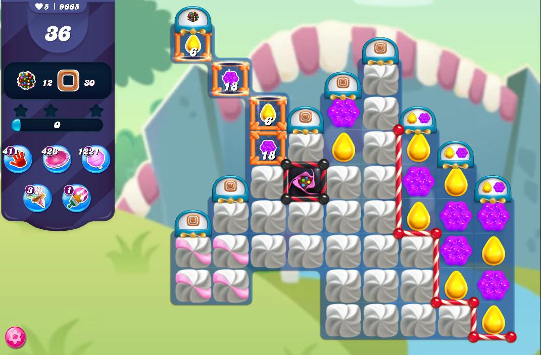 Candy Crush Saga level 9665