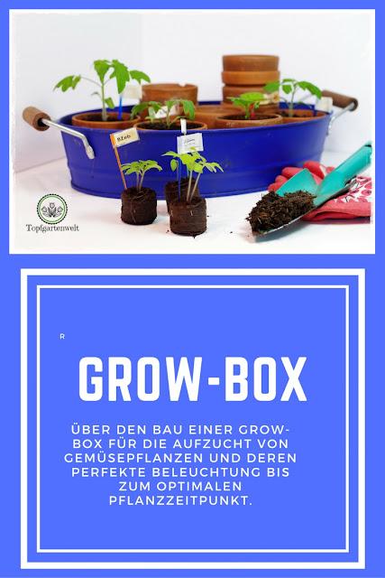 Bau einer Grow-Box für Gemüsepflanzen und deren optimale Beleuchtung - Gartenblog Topfgartenwelt #anzucht #gemüse #vorziehen #growbox #grow-box #beleuchtung