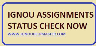 IGNOU Assignment Status Online