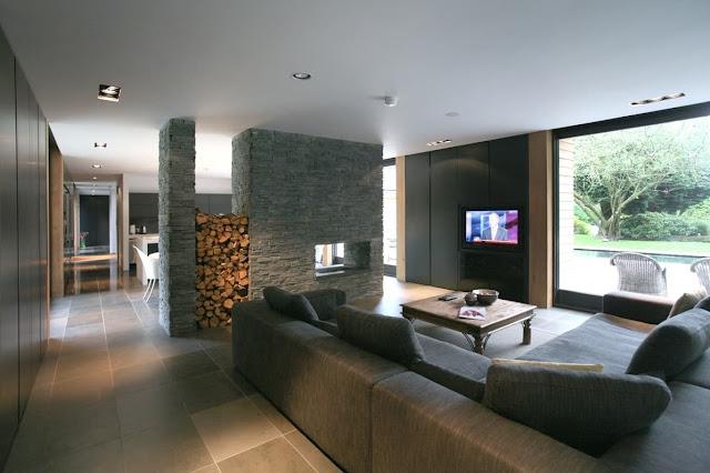 contemporary Living Room Divider Design Ideas