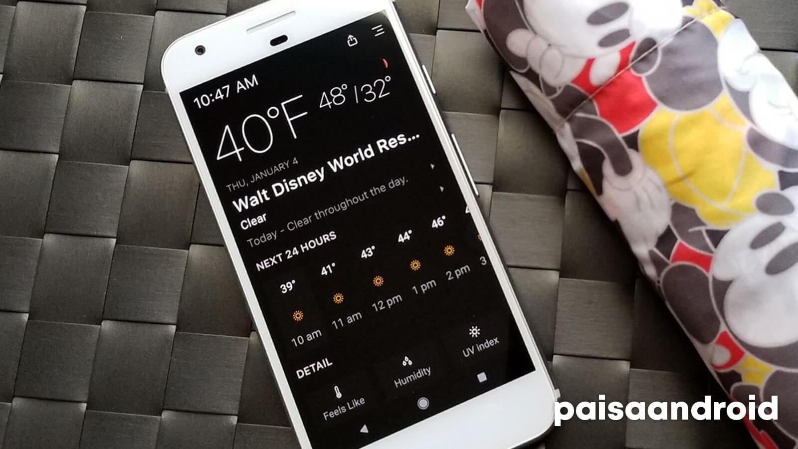 mejores aplicaciones de clima android