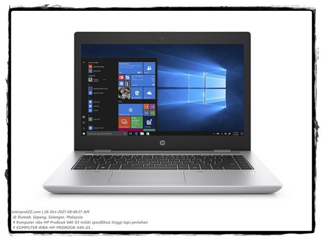 [t21j26] Nyahpasang Perisian Remeh dalam Komputer Riba Hewlett-Packard HP ProBook 640 G5