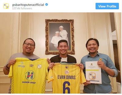 Evan Dimas Resmi Gabung Barito Putera