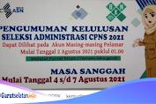 Cek Pengumuman Kelulusan Seleksi Administrasi CPNS dan PPPK 2021 Mulai 2 Agustus 2021