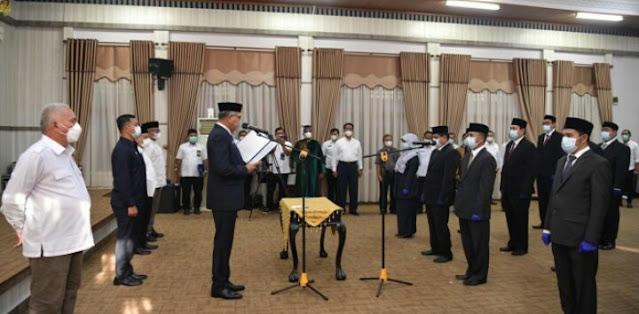 Gubernur Aceh Lantik 15 Pejabat Tinggi Pratama di Lingkungan Pemerintah Aceh