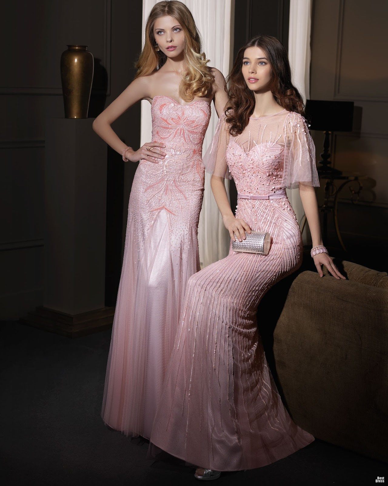 Vestidos hermosos para fiestas elegantes