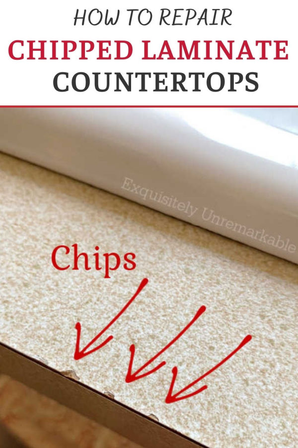 HOW TO REPAIR CHIPPED LAMINATE COUNTERTOP