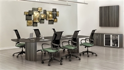 Modern Boardroom Table with Optional Power