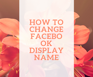 how to change facebook display name