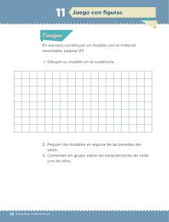 Apoyo Primaria Desafíos matemáticos 1er grado Bimestre 1 lección 11 Juego con figuras