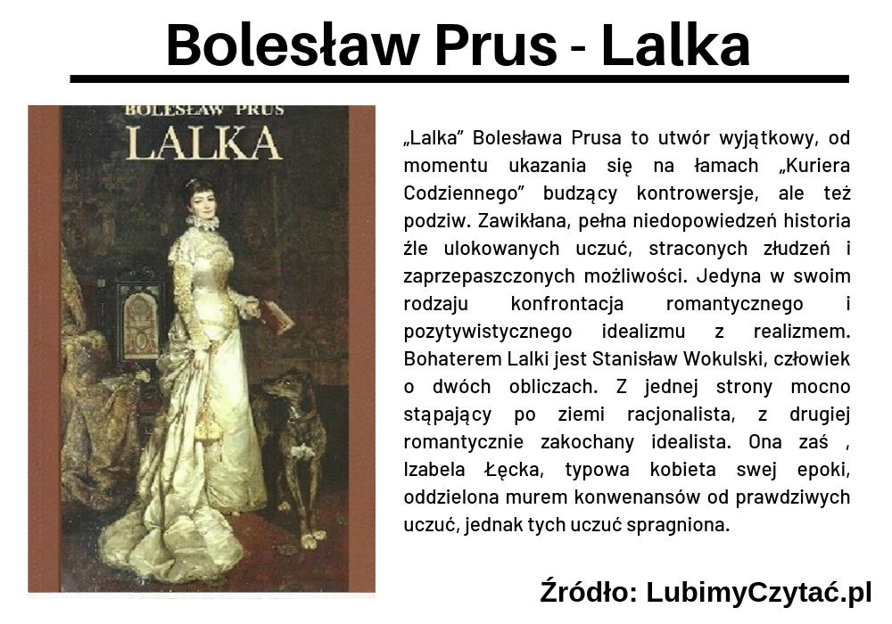 Bolesław Prus - Lalka, Topki, Marzenie Literackie