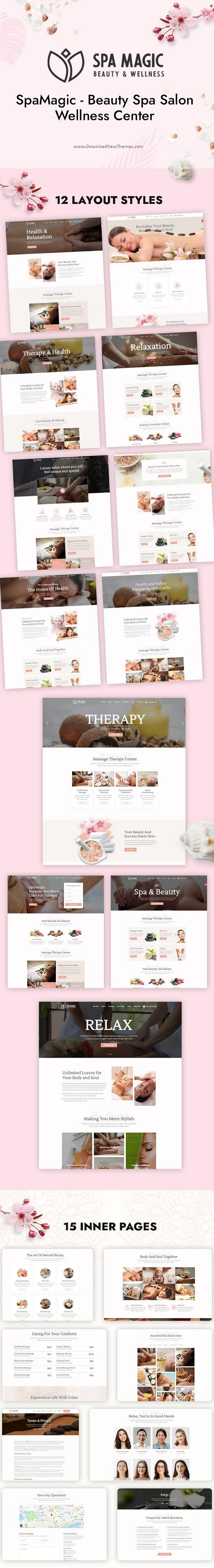 Beauty Spa Salon Wellness Center Premium Template