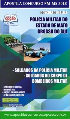 Apostila concurso da Polícia Militar-MS 2018