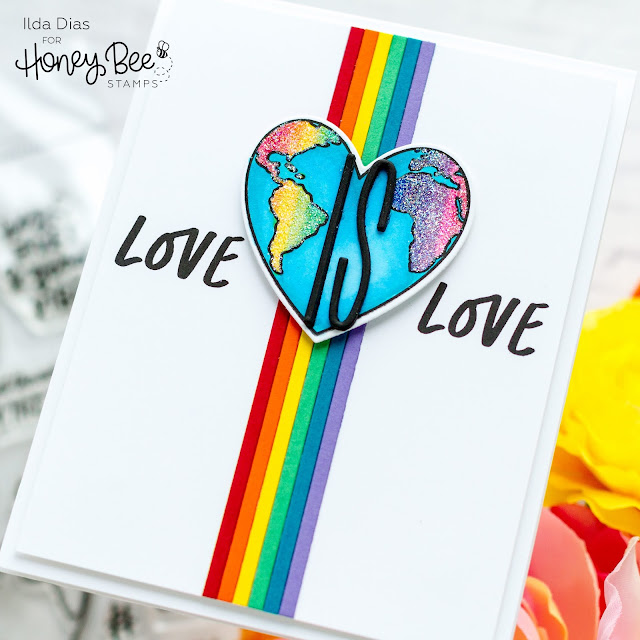 Love is Love, Rainbow, Pride, Card,Honey Bee Stamps,Sneak Peek,Card Making, Stamping, Die Cutting, handmade card, ilovedoingallthingscrafty, Stamps, how to,High Five Stamp Set,
