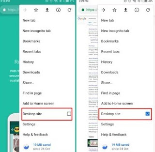cara membuka whatsapp web di browser hp