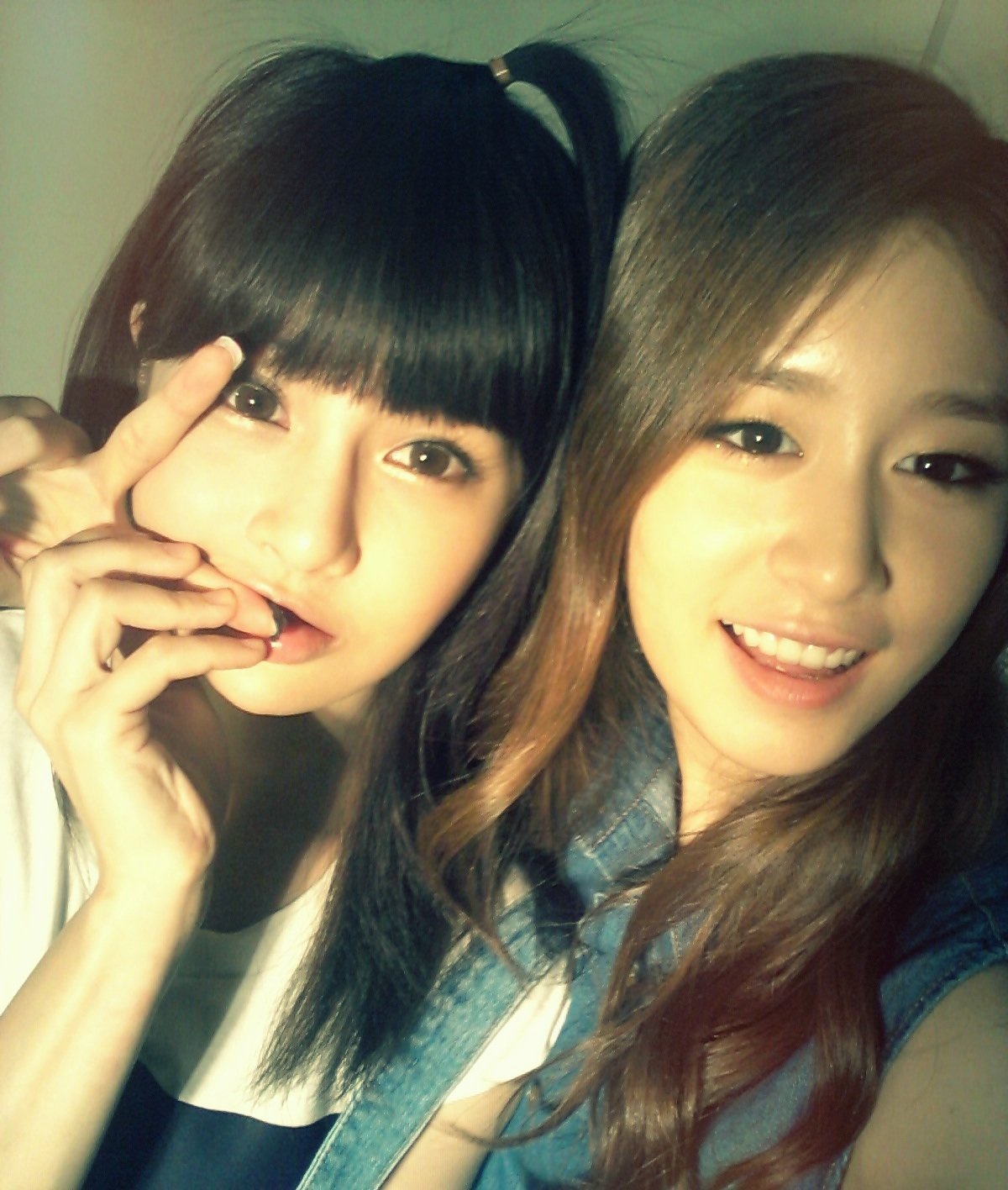 T-ara's Jiyeon and Boram posed for a cute SelCa Picture ...
