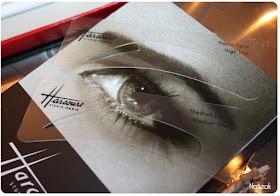 pochoirs de la palette sourcils Harcourt