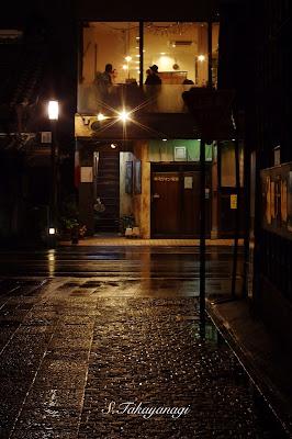 雨 川越 夜の街 日本の風景 snapshot  Japan 路地