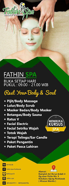 Banner Fathin Spa Corel Draw