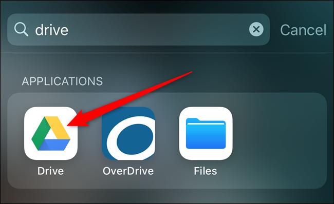 افتح تطبيق Google Drive