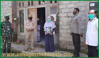 Polres Jember, Salurkan Bantuan Terdampak Covid-19 di Desa Glagahwero