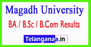 Magadh University Result 2017 BA B.Sc B.Com Part 1 2 3 Mark Sheet