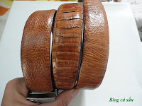 dây lưng đà điểu vàng 4