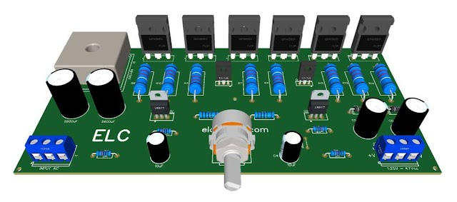 Symmetrical Adjustable Power Supply 1.25V to 47V 10 Amps with Short Circuit Protection + PCB