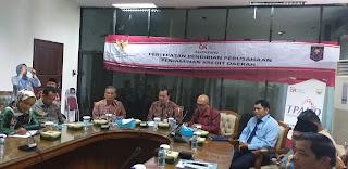 Sekda Provinsì Jambi Secara Resmi Membuka Audensi Percepatan Pendirian Perusahaan Penjamin Kredit Daerah.