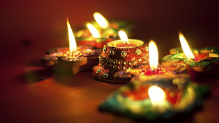Diwali decoration with diya