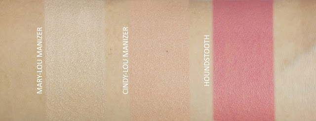 Swatches of Mary-Lou Manizer, Cindy-Lou Manizer and Instain Blush Houndstooth