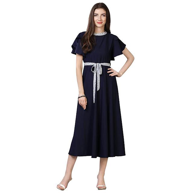Women's Pleated Maxi Dress