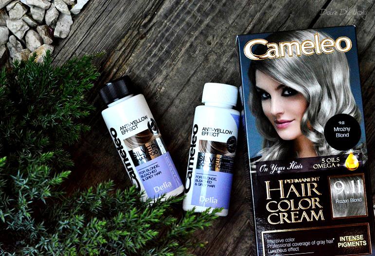 Szampon oraz odżywka do włosów blond i rozjaśnianych z linii Silver Cameleo Delia