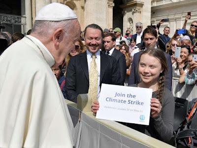 Pope and Greta