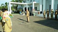 Pimpin Apel Pagi Perdana, Aji Man Ajak ASN Tingkatkan Disiplin