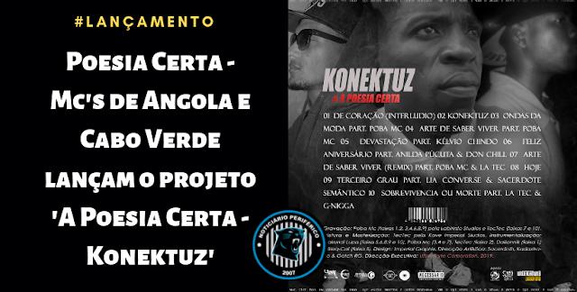 Poesia Certa | Mc's de Angola e Cabo Verde lançam o projeto 'A Poesia Certa - Konektuz'