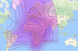 Footprint Satellite Eutelsat 10A 10.0°E C Band