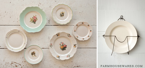 Decorate with Vintage Style Plates & farmhouse musings: Decorate with Vintage Style Plates