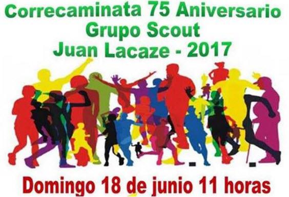 9k y 4,5k Correcaminata por 75 años de grupo Scout en Juan Lacaze (Colonia, 18/jun/2017)