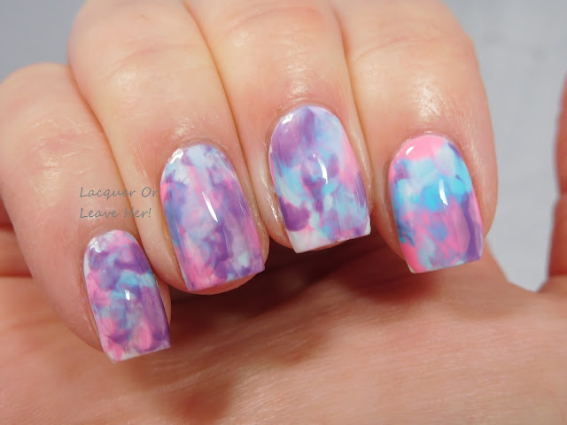 Smoosh mani with Spellbound Nails Galaxy Nails collection