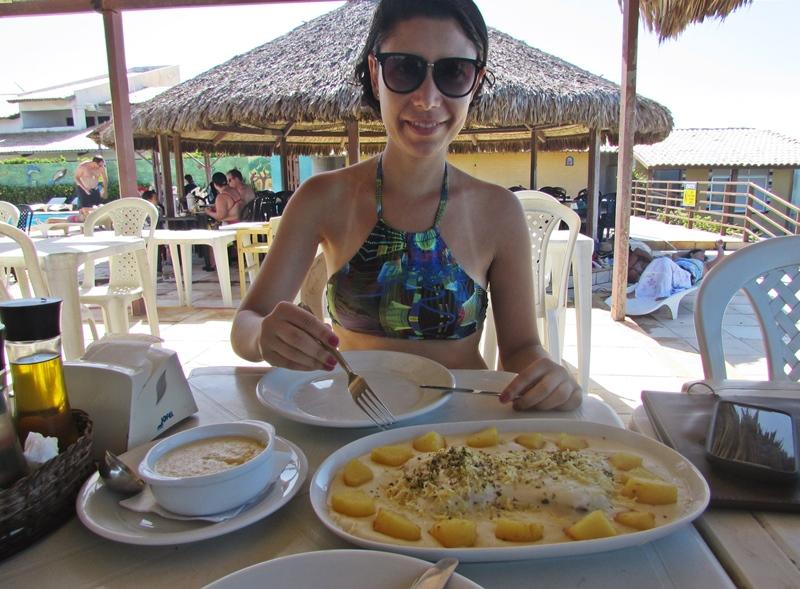 Morro Branco e Praia das Fontes, onde comer