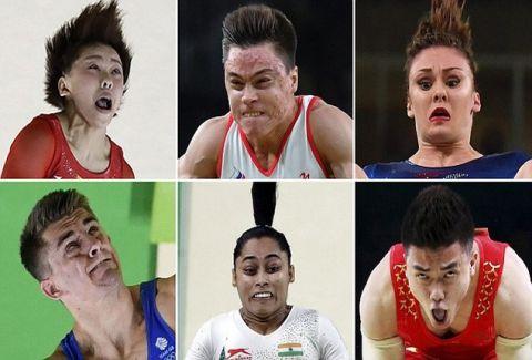 Η αστεία πλευρά των Ολυμπιακών Αγώνων: Απίστευτες γκριμάτσες από τους αθλητές της γυμναστικής! (photos)