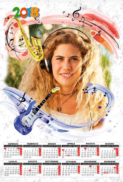 Calendario 2018 per musicisti