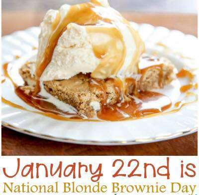 National Blonde Brownie Day Wishes Unique Image