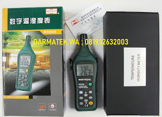 Darmatek Jual MASTECH MS-6508 Tests Ambient Temperature and Relative Humidity - Wet Bulb and Dew Point Temperature wih Datalogger