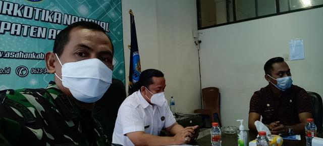Danramil 06/Kisaran Jajaran Kodim 0208/Asahan Hadiri Zoom Metting dengan Deputi BNN Pusat dan Propinsi Sumatera Utara
