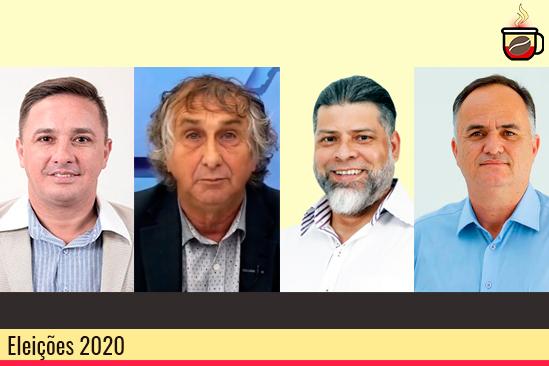 Candidatos a prefeito de Sarandi: Fernandinho, Volpato, Bianco e De Paula