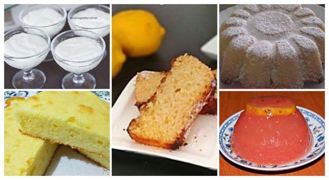 5 bizcochos y postres con limón